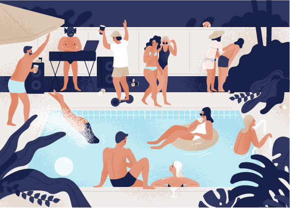 pool party illustration